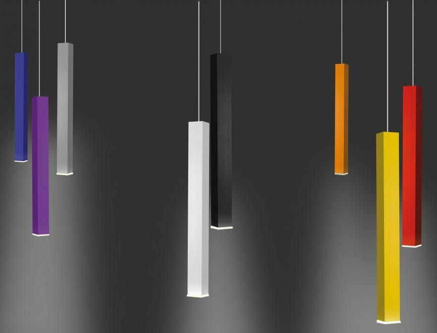 Miyako aluminum lamps are equipped with LED and fluorescenr lighting. Design: Studio 63