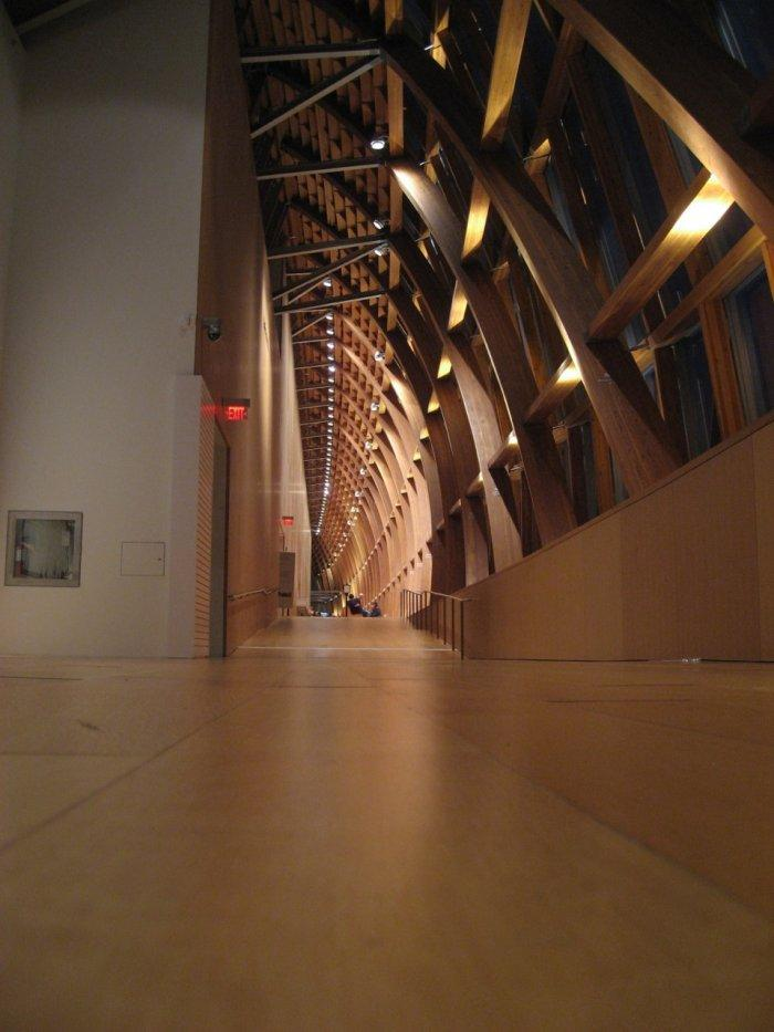 One of the hallways in the gallery.