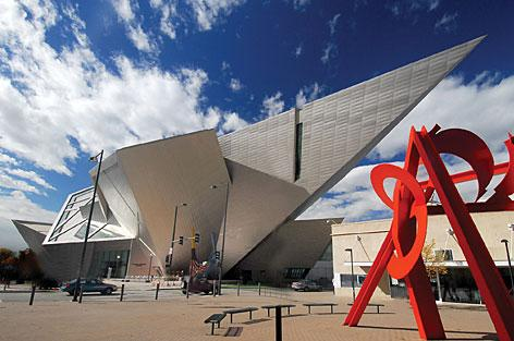 The amazing building of the Denver's Art Museum