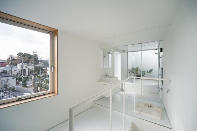 A view to the bathroom