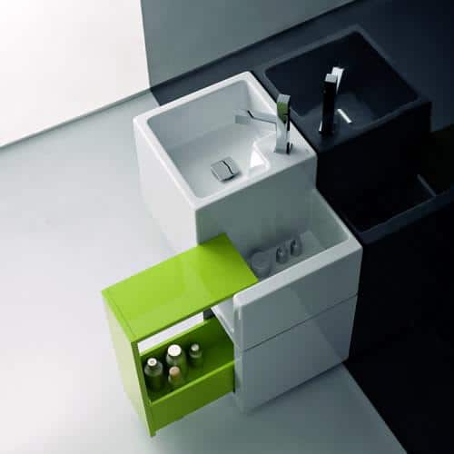 Maya Design produced this beautiful bathroom vanity.
