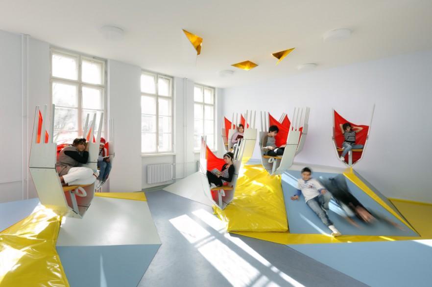 Modern interior design of school in berlin germany - How many years is interior design school ...