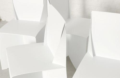 White chair – polyline design.