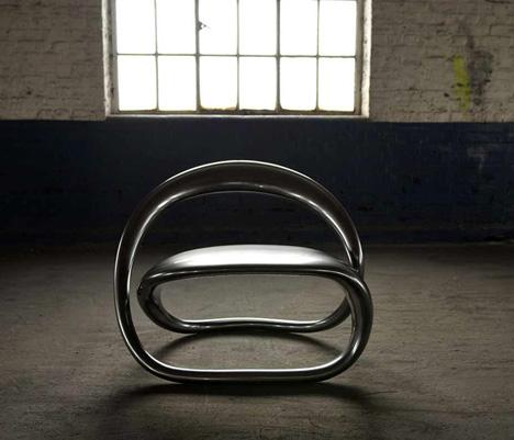 The shape of @ chair is non-breakable crystals