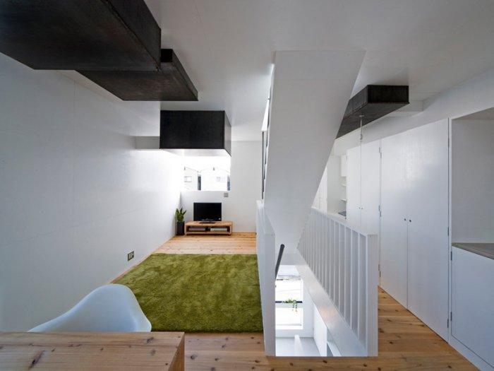 The contemporary interior design of a small house in Kyoto