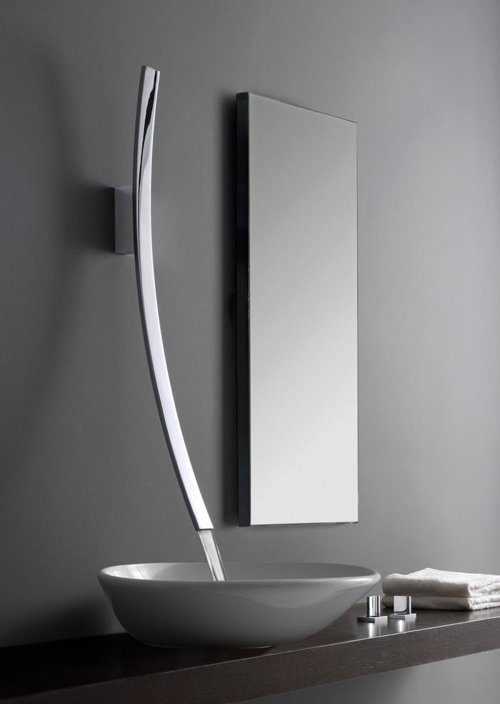 Modern bathroom faucet.