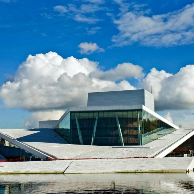 modern architecture - the opera house in oslo, norway