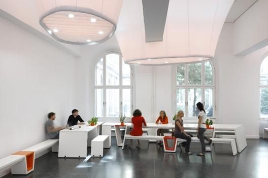 All of the classrooms are all the same – modern and stylish.