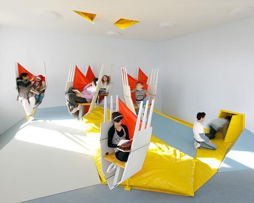 The modern interior provokes everyone's creativity