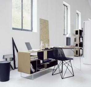 modern office interior design of a real estate agency
