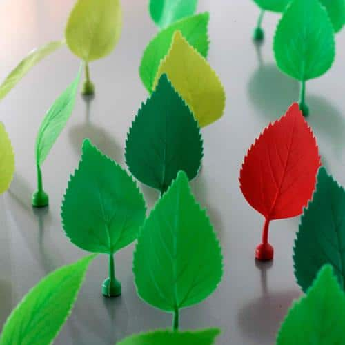 Leaves office accessories with magnets in their bases, designer by Richard Hutten for Gispen