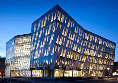 The absolutely modern architecture of Saxo's office in Copenhagen