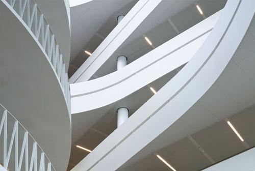 The multi level modern office of Saxo in Copenhagen