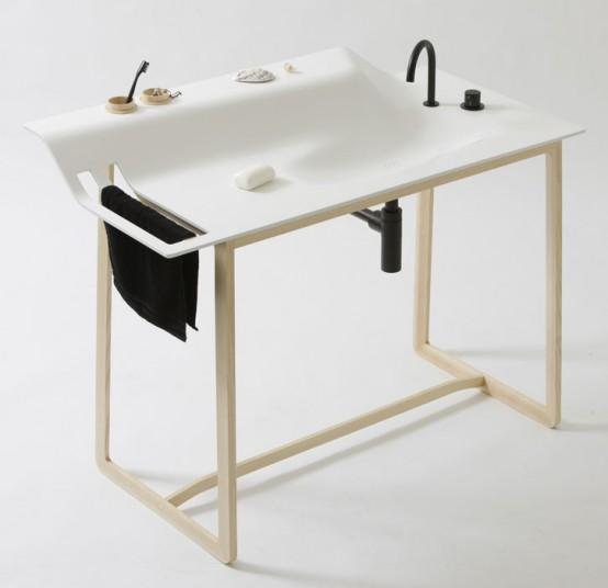 The private collection of the designer Janis Ellenberger include this brilliant washbasin