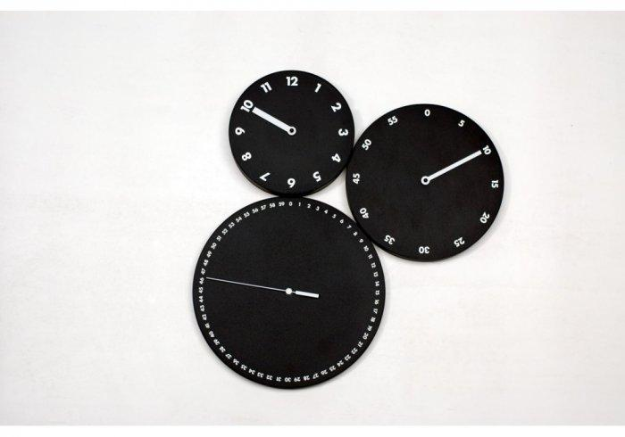 H:M:S: is a wall clock in painted wood