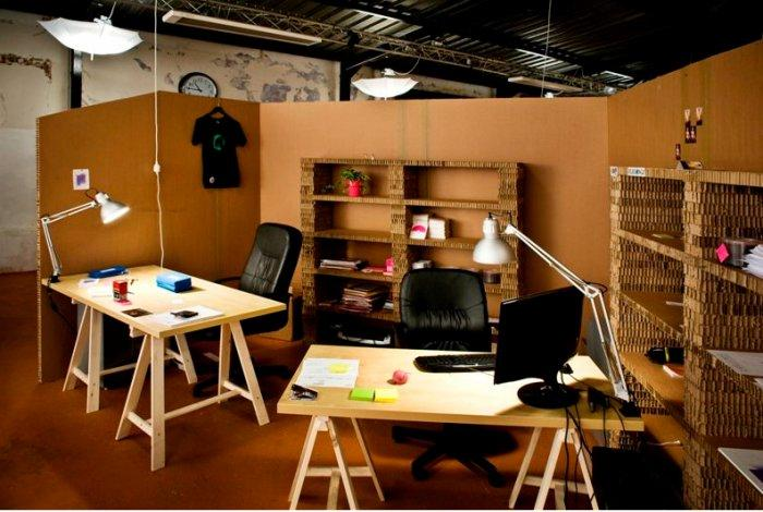 Wokring space with two desks.