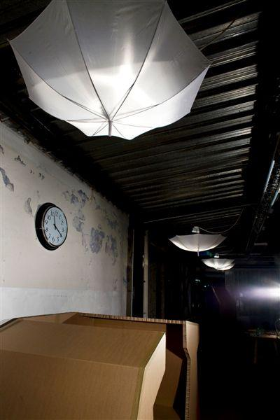 Wall and ceiling.