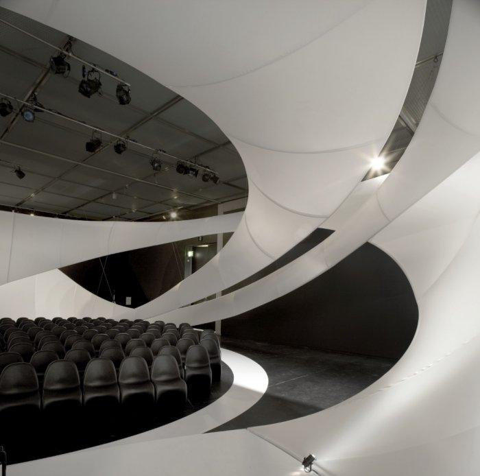 White oval elements are implemented in the design.