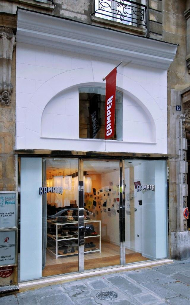 An outside look of Camper Store in Paris