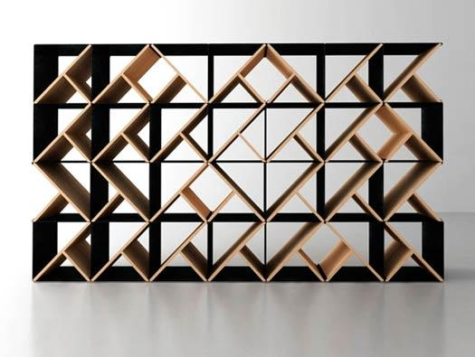 This ordinary furniture can be turned into a shelving storage device, because of its modern design.