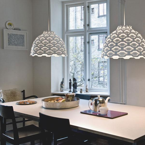 The contemporary look of the chandeliers is very attractive.