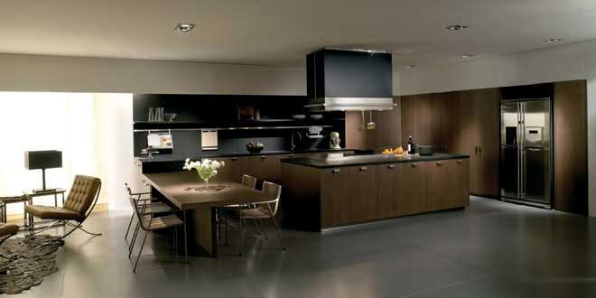 A stylish kitchen in dark colors by Toncelli