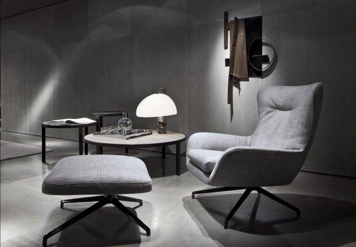 This armchair looks not only very modern but also as it a really cozy place.