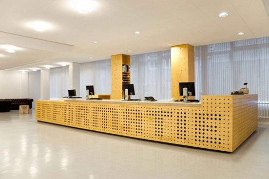 Library interior design in university of amsterdam for Interior design facts