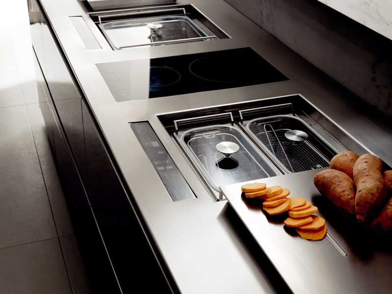 The appliances are important part of the kitchen interior.