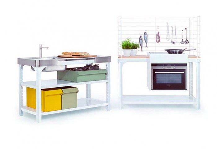 Mobile home kitchen sink and cabinet that rotates founterior german designer kilian schindles has created the concept kitchen system for german kitchen accessories brand naber workwithnaturefo