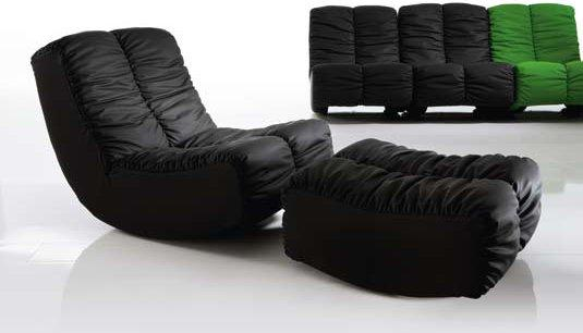 A sofa made of leather by Bruehl