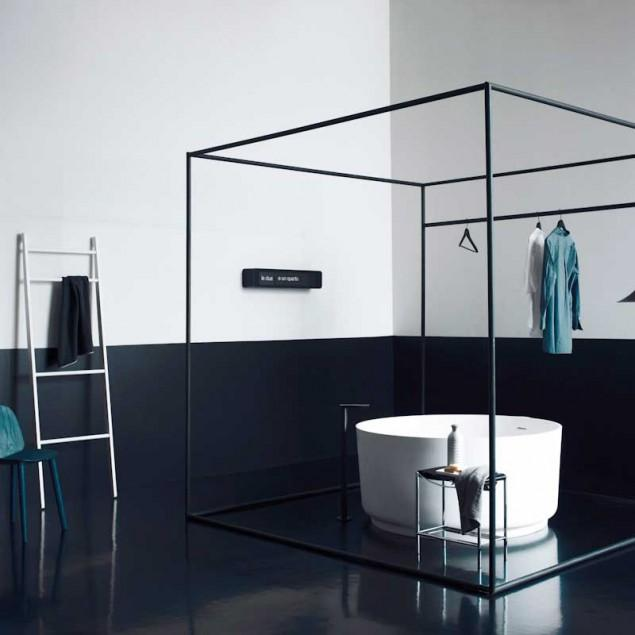 The minimalism delivered in bathroom design.