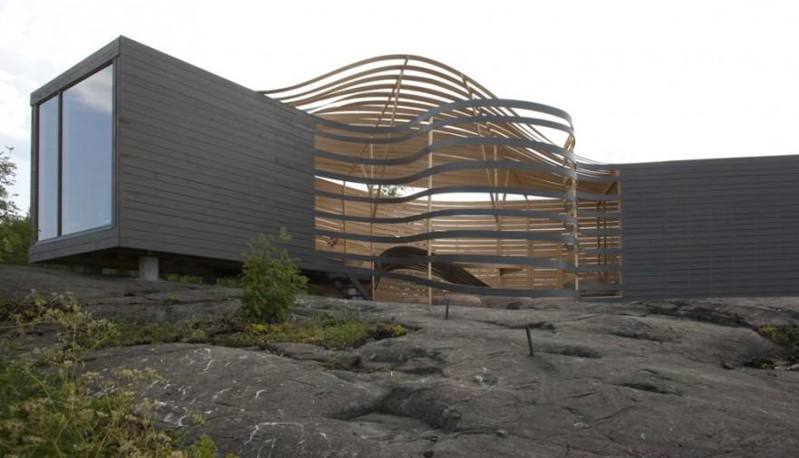 A modern coast house with impressive architectural design
