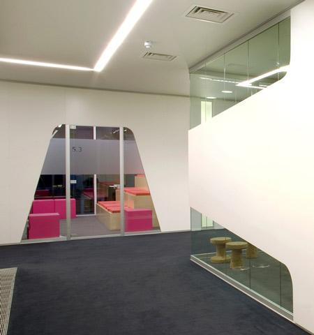 Another view of the modern office design.