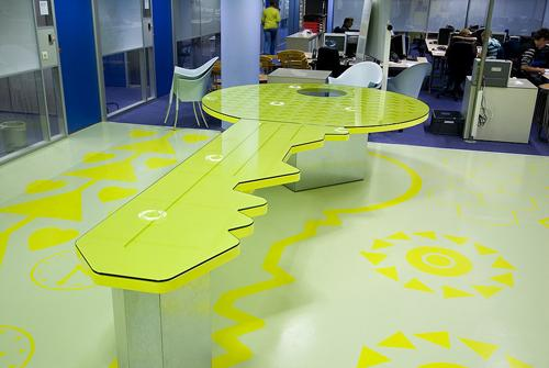 School desks don't look traditionally any more.