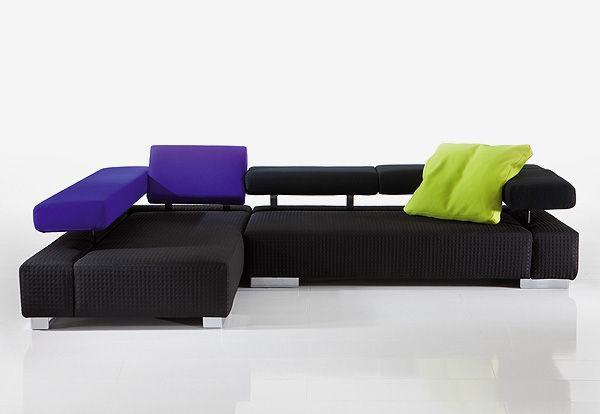This sofa has two sections.
