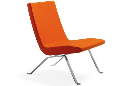 This orange chairs has not only a perfect design. It is also very comfortable.