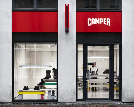 Camper store in Malmo has an unique interior design.