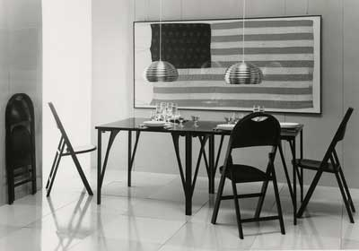 Modern dining room furniture.