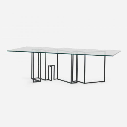 Glass table, designed by Designfenziger. Maybe this is your next home decor piece of furniture?