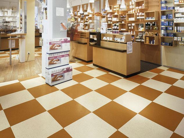 Tiled floor designed by Nora