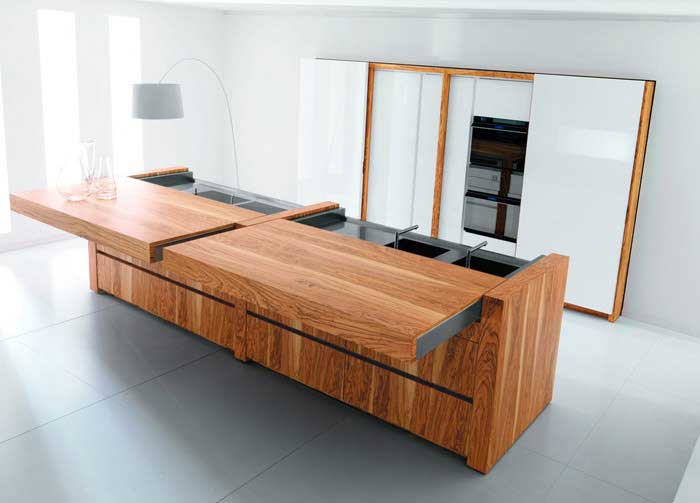 When you want to look a little bit more serious you can bet on wooden kitchen.