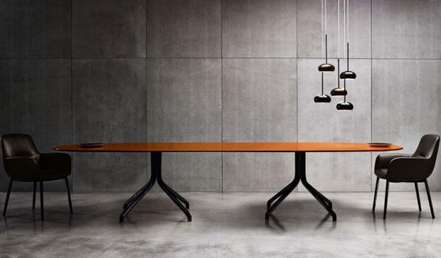 The design of the table makes it perfect for discussions or meetings.