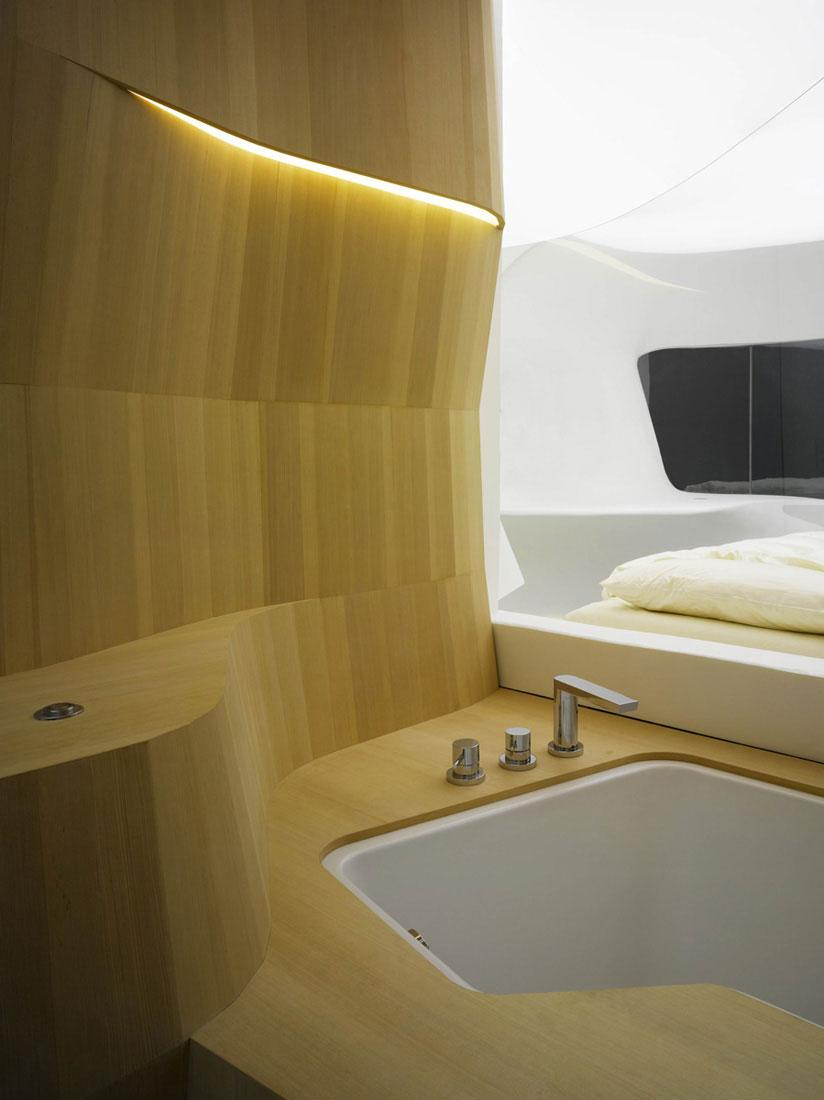 Futuristic hotel room interior design by lava founterior for Hotel room interior