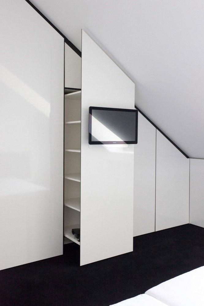 Bedroom Wardrobe - Minimalist Apartment Hosting Inspiring Modern Design