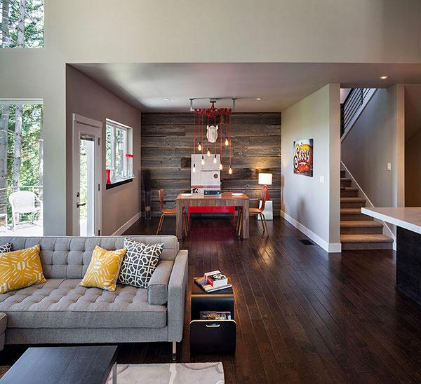 Contemporary Sofa - Breathtaking Eclectic Modern House in Oregon, USA