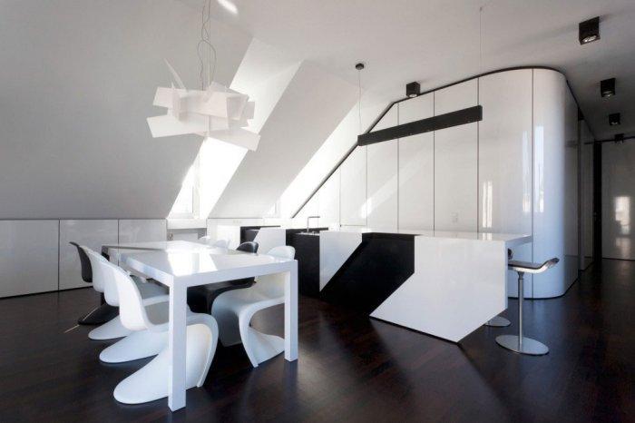 Dining Room - Minimalist Apartment Hosting Inspiring Modern Design