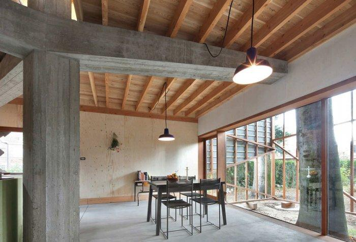 Dining Room - Small Eco House Architectural Design in Gent, Belgium