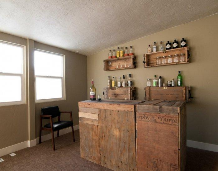 DIY Bar - Eclectic Small Apartment Interior Design in SLC, USA