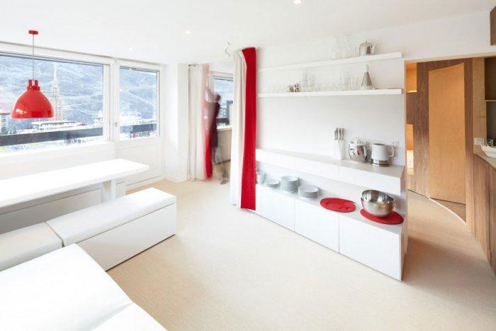Fresh Apartment 6 - amazing small apartment design in Menuires.